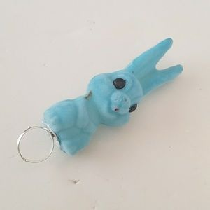 BLUE FUZZY BUNNY RING